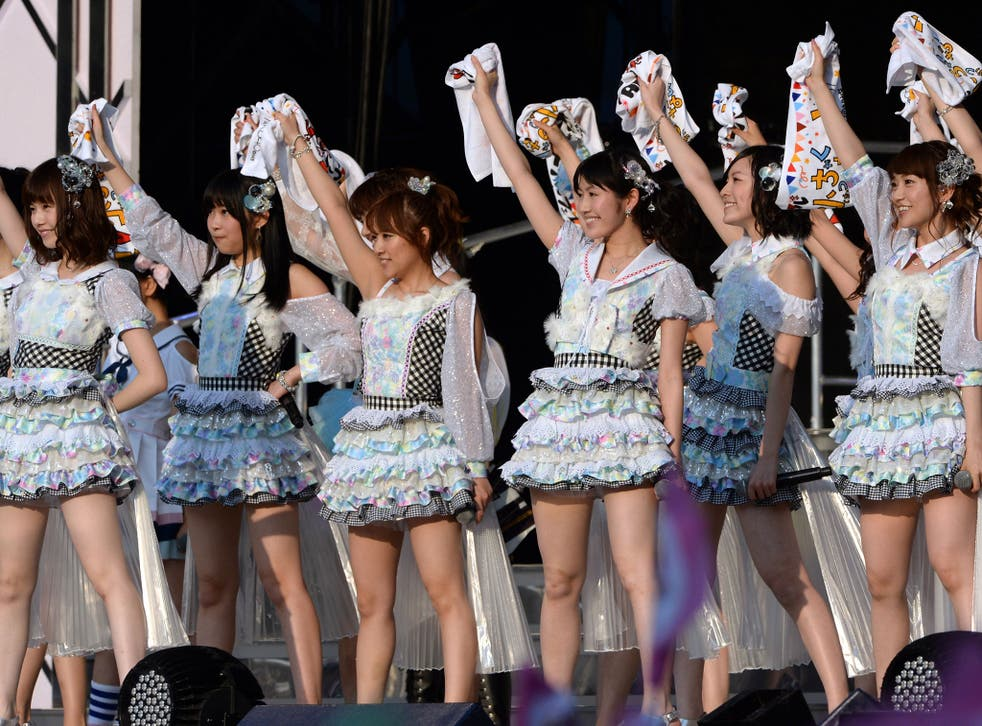 Japanese girl pop group AKB48m, whose members were attacked last year