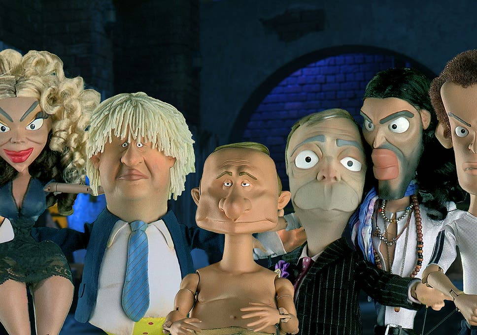 Beyonce, Boris Johnson, Putin, Nigel Farage, Russell Brand and Andy Murray all get the Spitting Image treatment from Newzoids