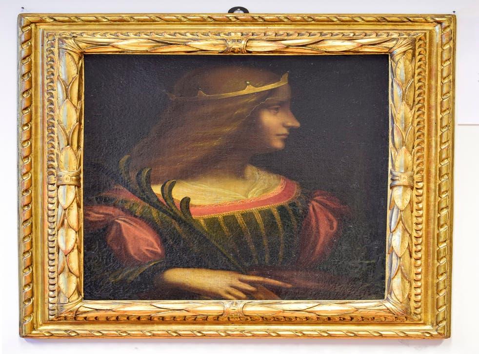 Ritratto di Isabella d'Este by Leonardo da Vinci, which was seized by the police of Ticino