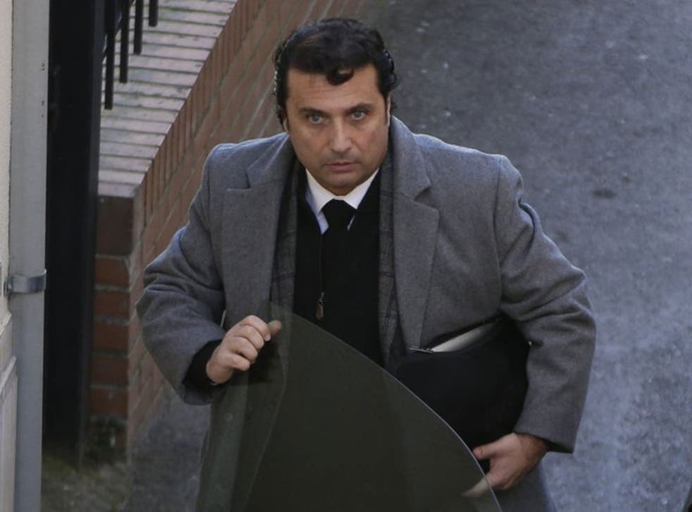 Captain of the Costa Concordia cruise liner Francesco Schettino arrives for his trial in Grosseto today