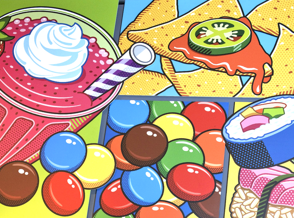 Sugar rush: a display board from the show