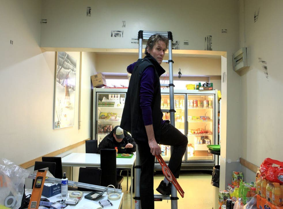 Hungry art: Bart Lodewijks in the café he is currently working on