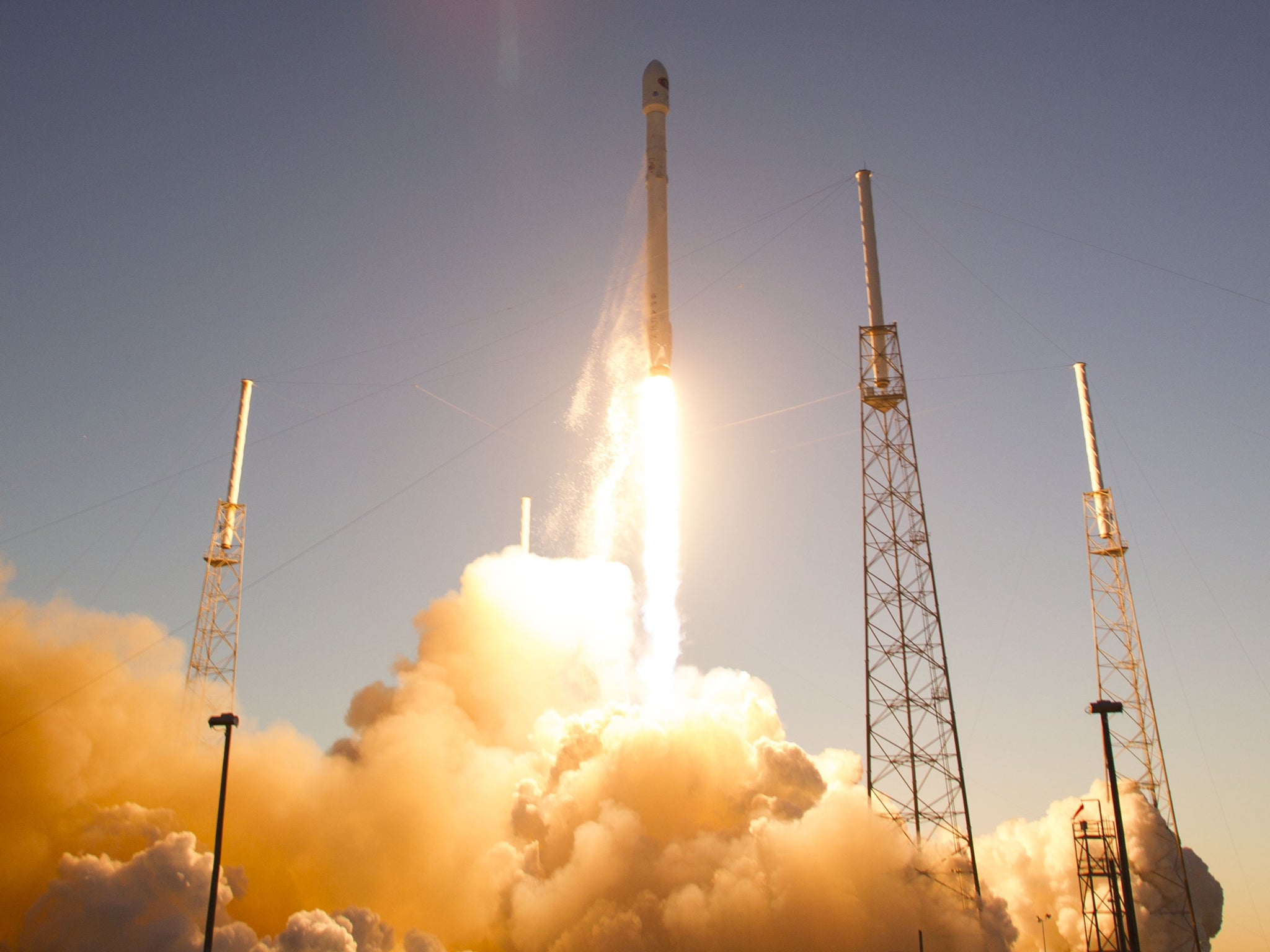 SpaceX cancels rocket barge landing amid high seas, but launches DSCOVR satellite