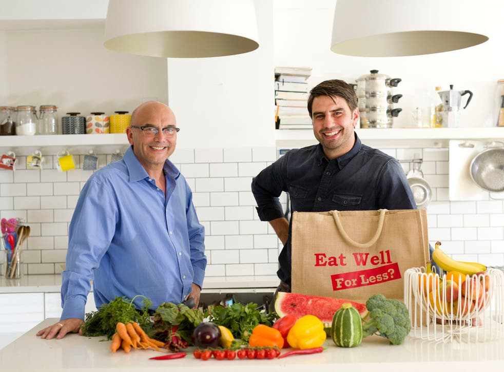 Gregg Wallace and Chris Bavin in Eat Well for Less