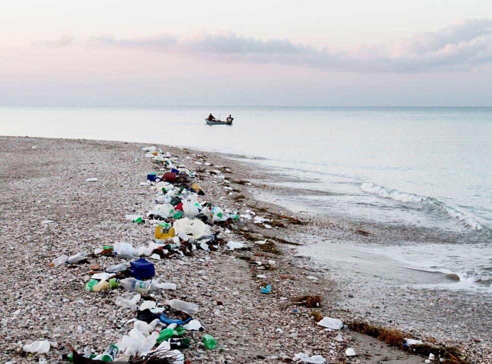 Marine debris and plastic pollution along the coastline of Haiti