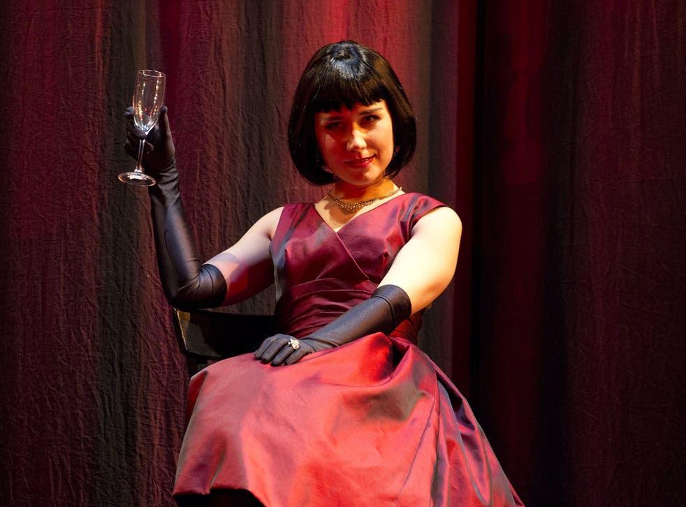 Elizabeth Zharoff in ENO's current production, 'La Traviata'