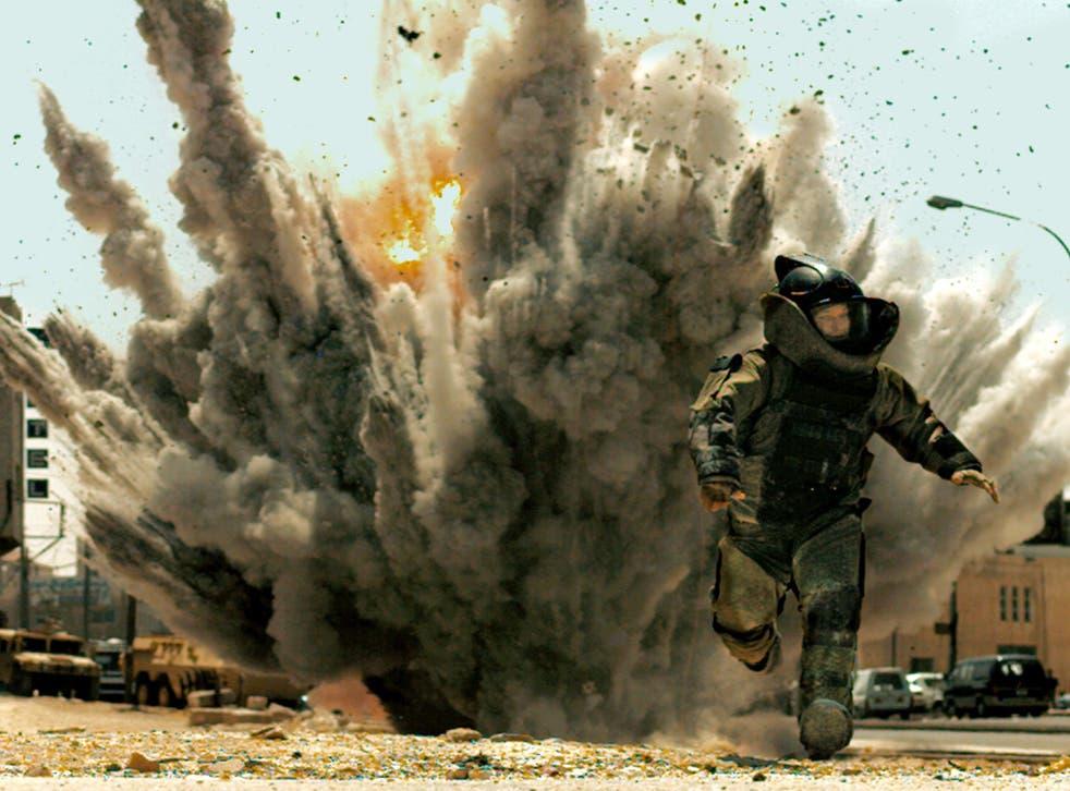 """Jeremy Renner is shown in a scene from, """"The Hurt Locker."""""""
