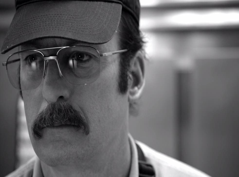 Bob Odenkirk working at Cinnabon in the opening scene of Better Call Saul