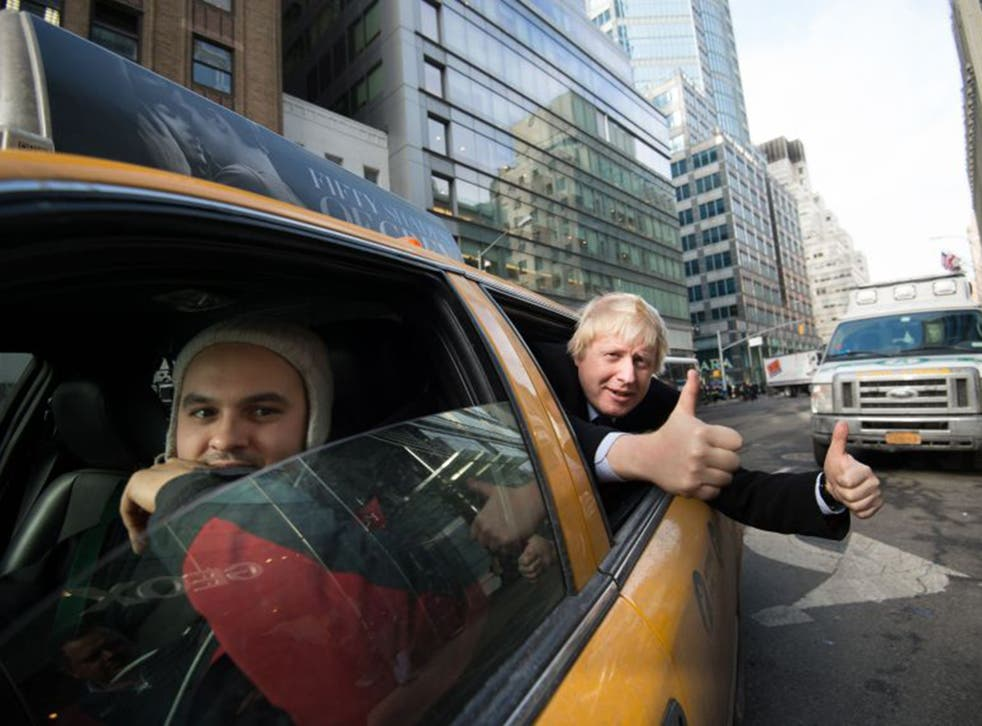 London Mayor Boris Johnson on a trade visit to New York lastweek