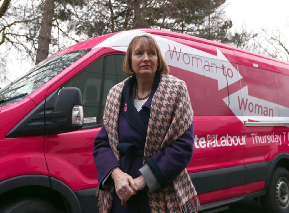 "Harriet Harman has described Labour's bus as ""magenta"""