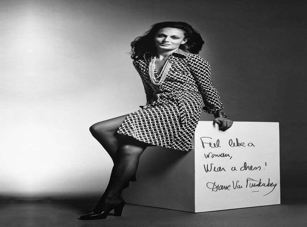 Diane von Furstenberg in the influential wrap dress in 1970