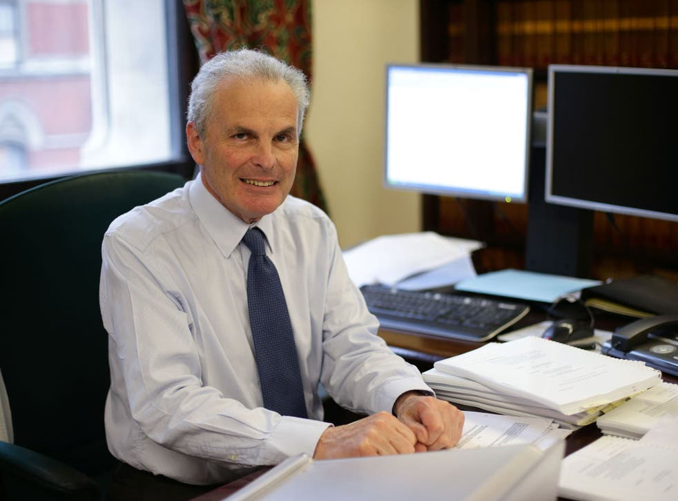 Lord Dyson in his office at the Royal Courts of Justice, London, ahead of the publication of a report that calls for a new 'Online Court' to be developed in England and Wales to increase access to justice and to streamline the court process