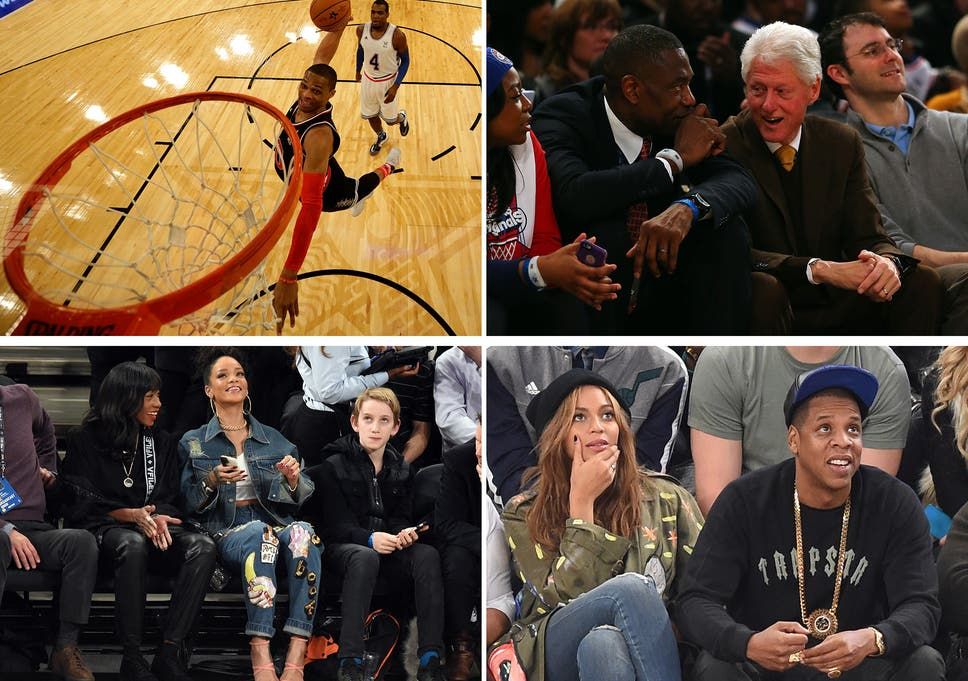 check out 762d7 490a5 NBA All-Star Game 2015: Rihanna, Beyonce, Jay-Z and Bill ...
