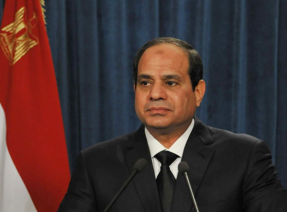 President Abdel Fattah al-Sisi makes a statement after Isis released a video purporting to show the beheading of 21 Coptic Christian hostages