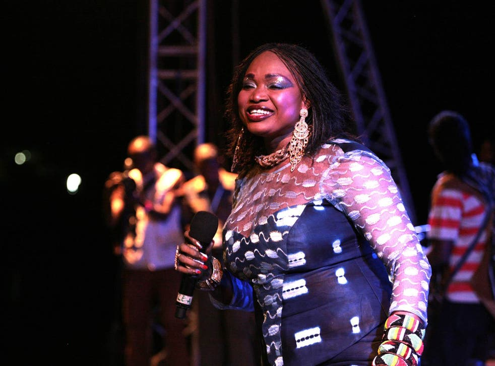 Sound advice: Oumou Sangare performing at Mali's Festival on the Niger