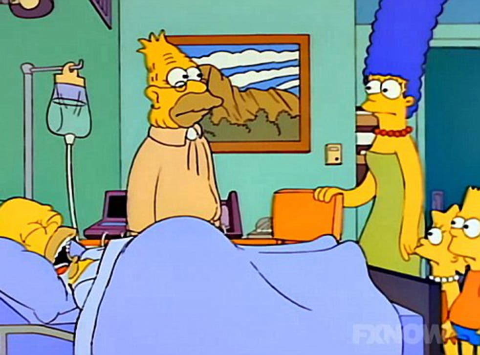 Homer's family visit him in a coma on The Simpsons