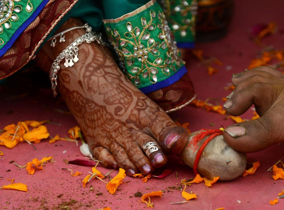 A Hindu wedding ceremony: there are online forums where gay people post looking for marriage-of-convenience partners