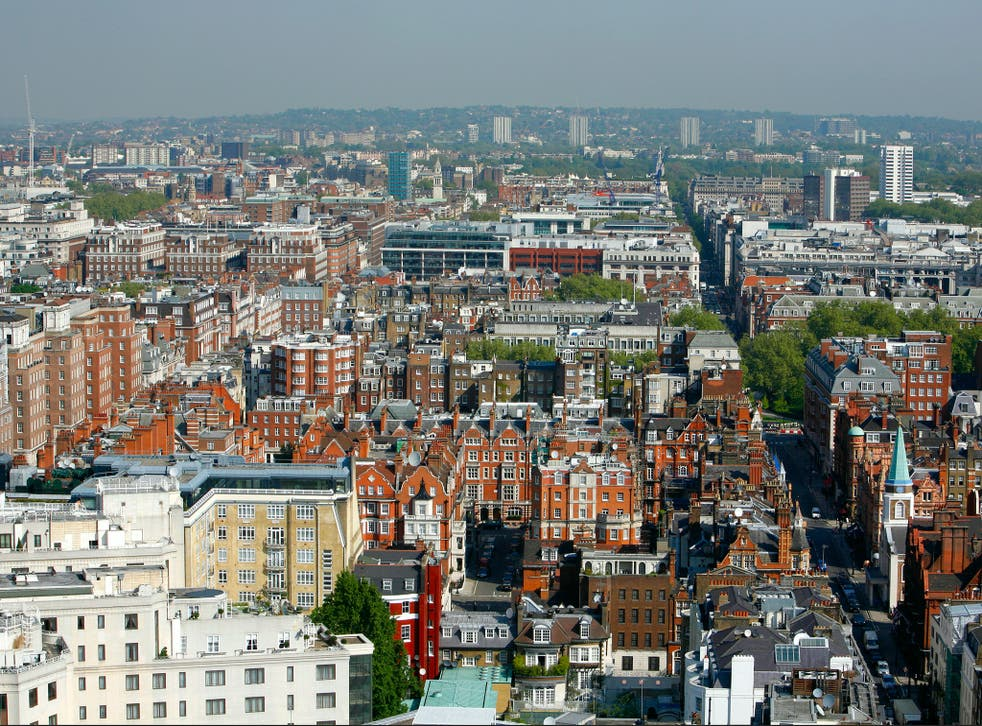 A roofline view of Mayfair
