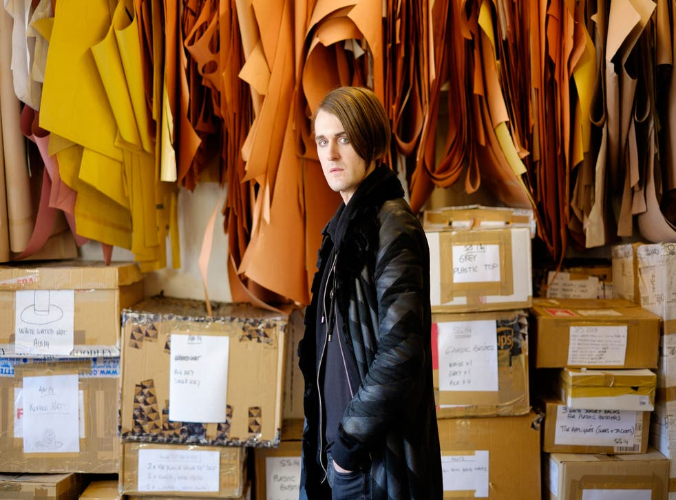 Pugh in his studio in Dalston. He says: 'I have the freedom to be honest, even if it does sometimes get me into trouble.'