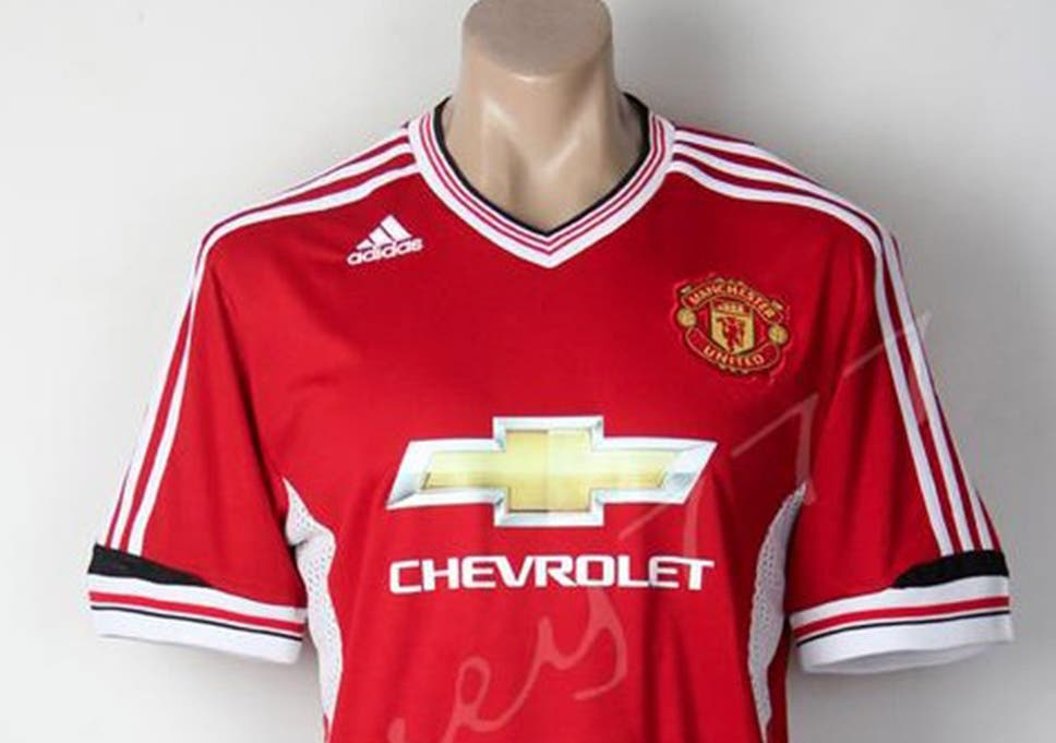 baacb629b99 Manchester United's new kit? Leaked images of adidas home and away shirts  for 2015/16 season emerge on internet