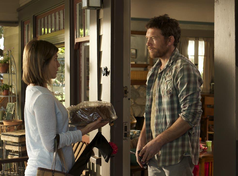Slice of life: Jennifer Aniston and Sam Worthington in 'Cake'