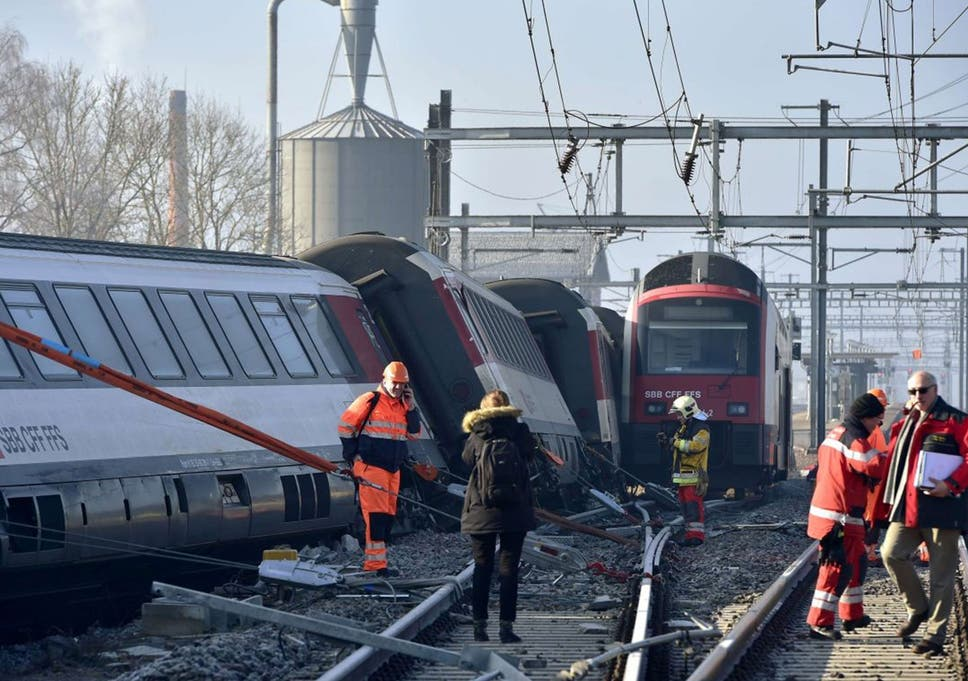 Swiss train crash: Up to 50 injured in head-on collision between two