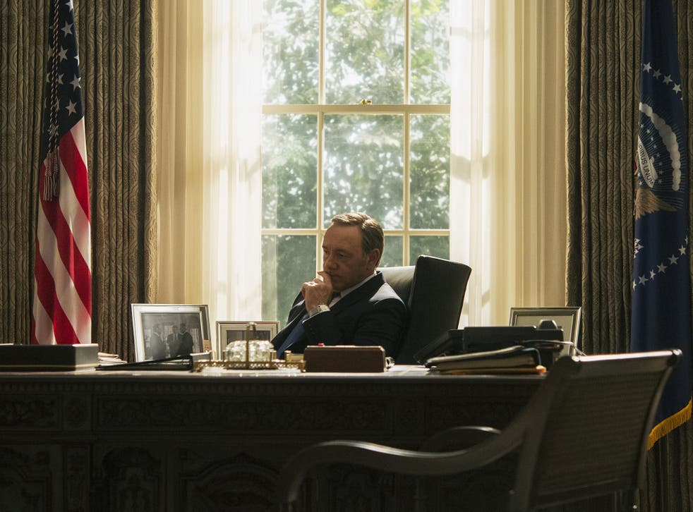 Kevin Spacey as a ruthless Frank Underwood in 'House of Cards'
