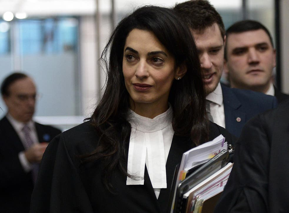 Amal Clooney has joined the legal team defending  'The Hooden Men'