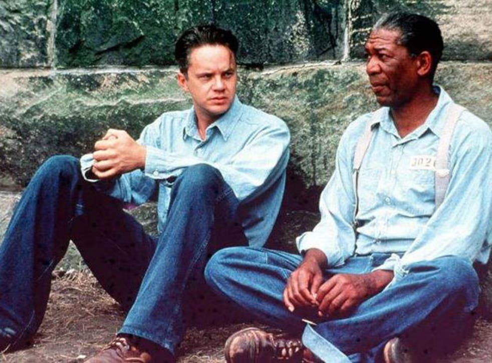 Morgan Freeman and Tim Robbins as Red and Andy in 1994 movie The Shawshank Redemption
