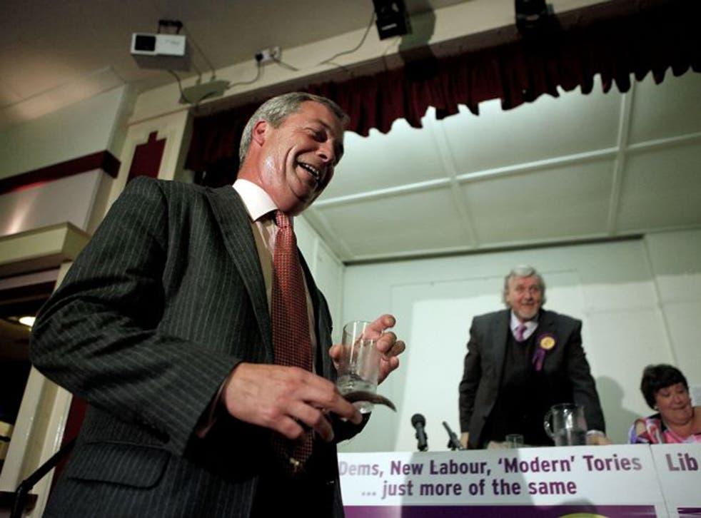 Nigel Farage blames the press, not members, for Ukip's racist image