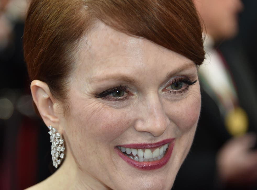 Actress Julianne Moore attends the 87th Annual Academy Awards at the Hollywood & Highland Center