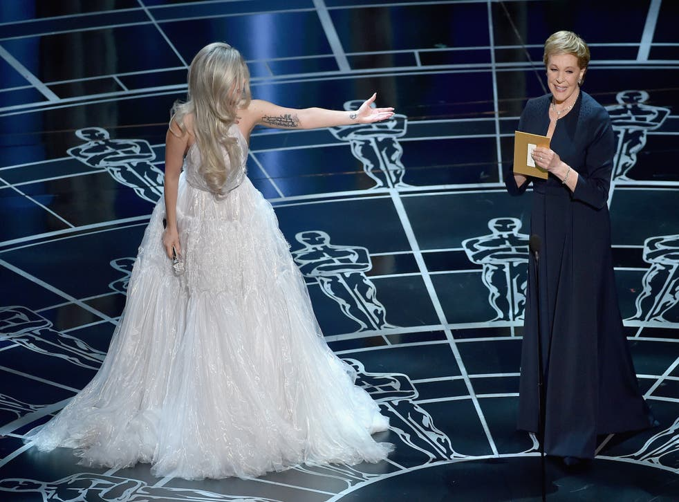 Julie Andrews led the applause for Lady Gaga