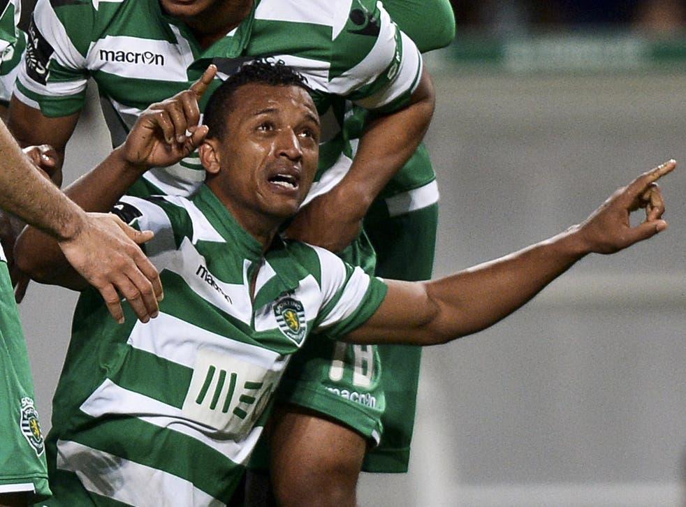 Nani breaks down in tears after scoring wonder goal for Sporting Lisbon