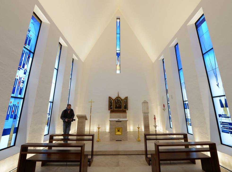 The chapel at Bishop van Elst's residence in Limburg