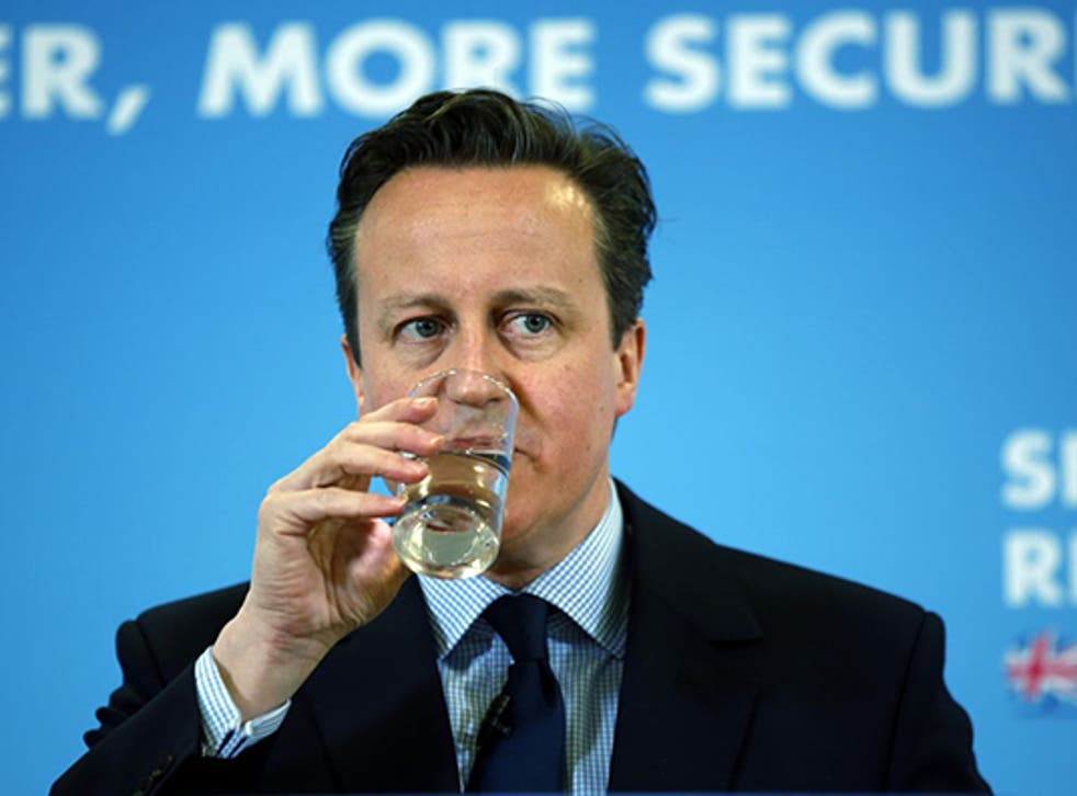 David Cameron during his speech about retirement, in Hastings on Monday (AP)