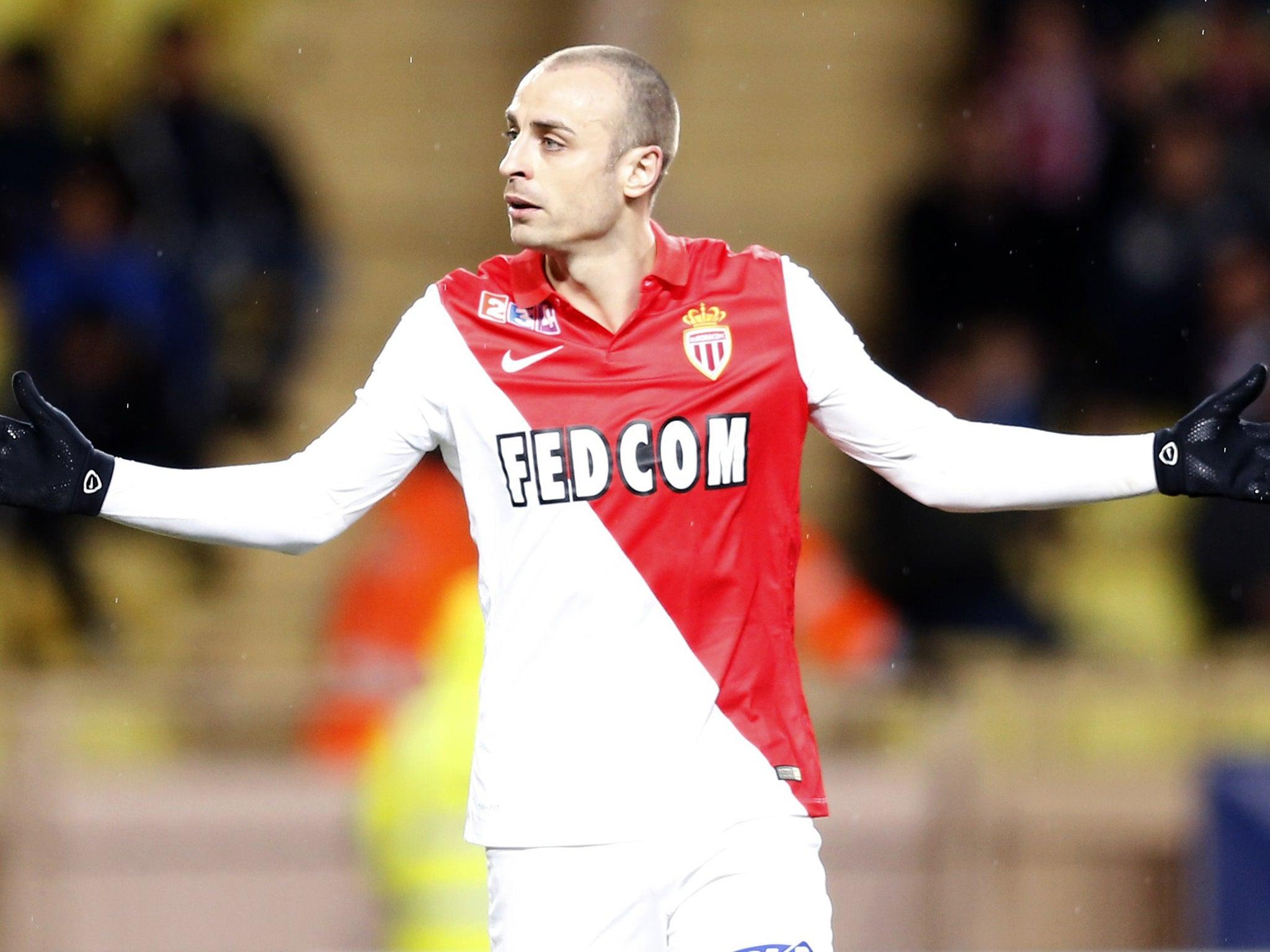 Dimitar Berbatov will be seeking goals during Arsenal vs Monaco