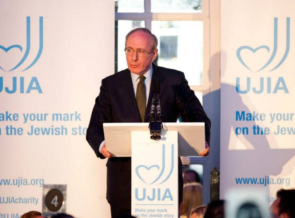 Malcolm Rifkind at the United Jewish Israel Appeal last May