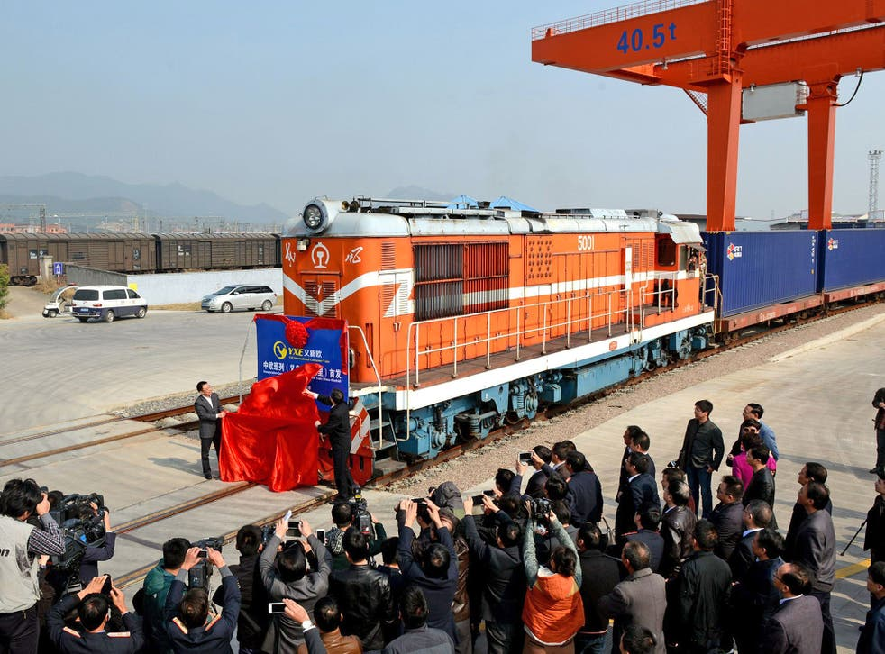 The China to Europe train was unveiled in Yiwu last November