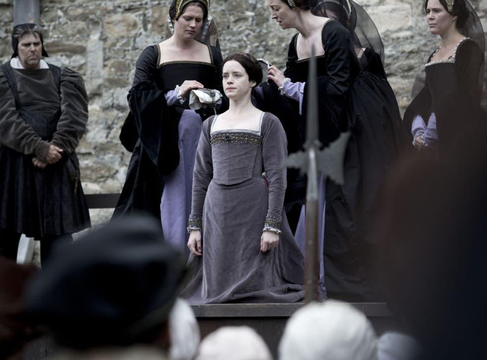 A cut above: Claire Foy as Anne Boleyn in 'Wolf Hall'
