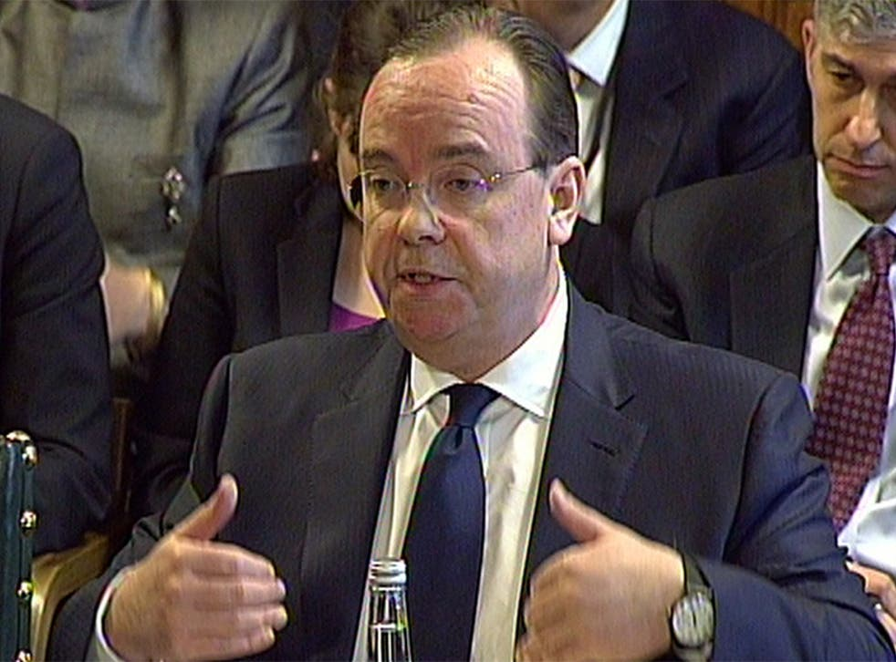 HSBC chief executive Stuart Gulliver answers questions from members of the Treasury Select Committee