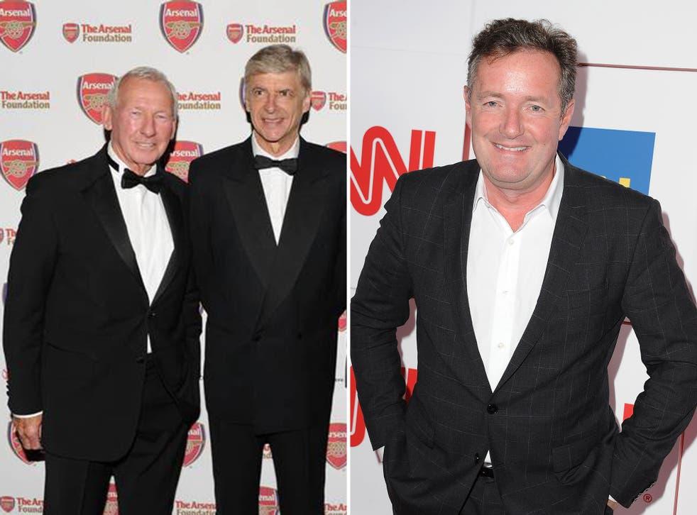 Bob Wilson alongside Arsene Wenger, and Piers Morgan