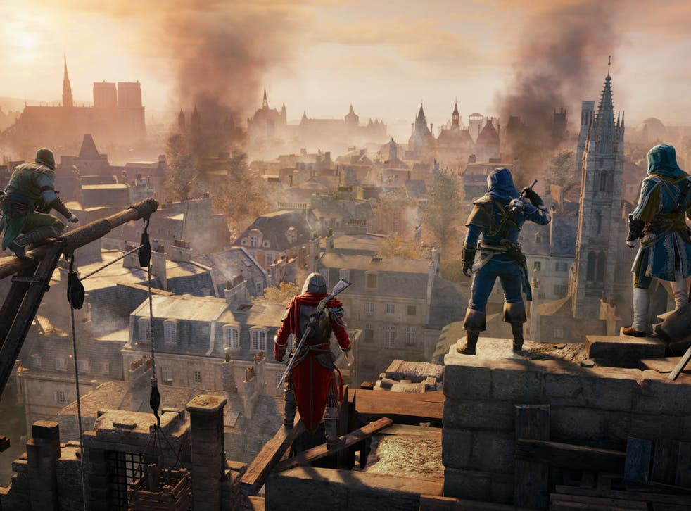 A scene from the video game Assassin's Creed Unity