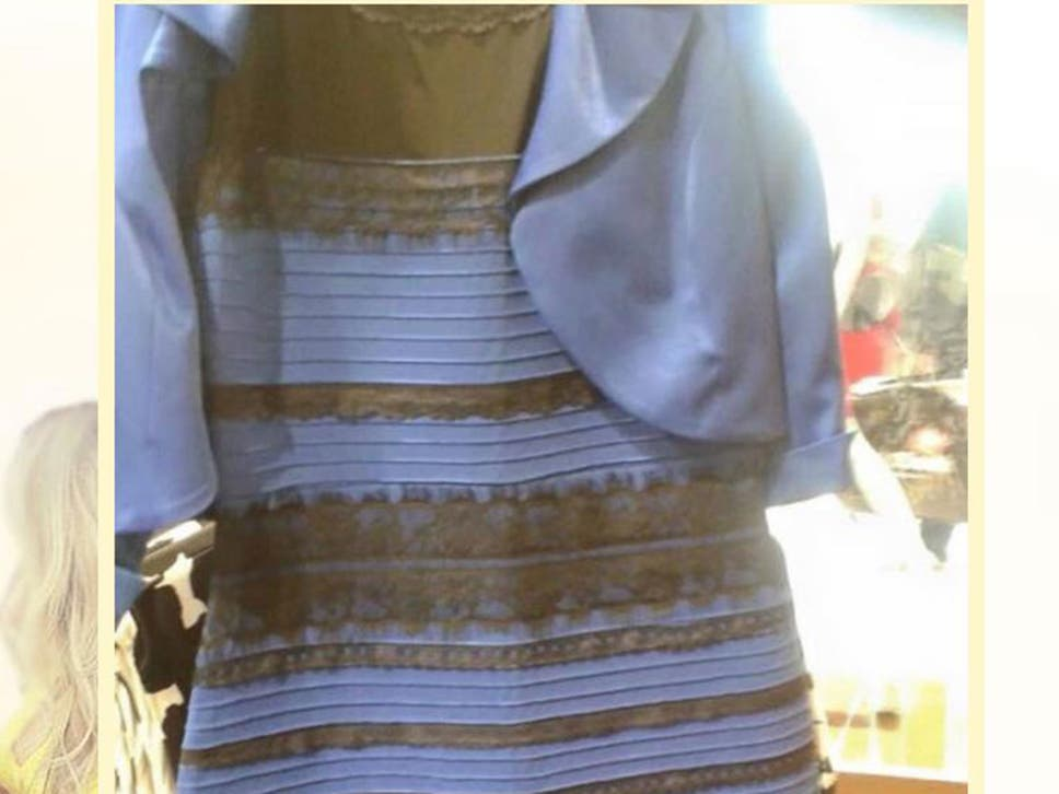 Gold and white dress illusions