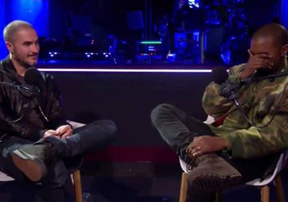 Kanye West breaks down crying during Zane Lowe interview
