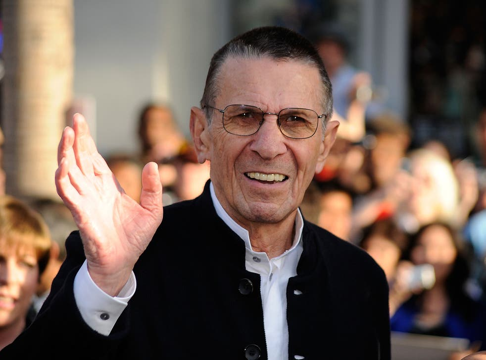 Nimoy arrives at the Premiere Of 'Star Trek' at the Chinese Theatre, Hollywood, in 2009.