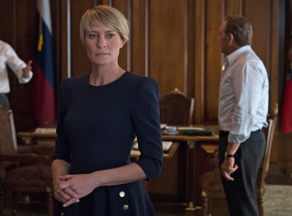 Robin Wright as Claire Underwood in House of Cards' Season 3