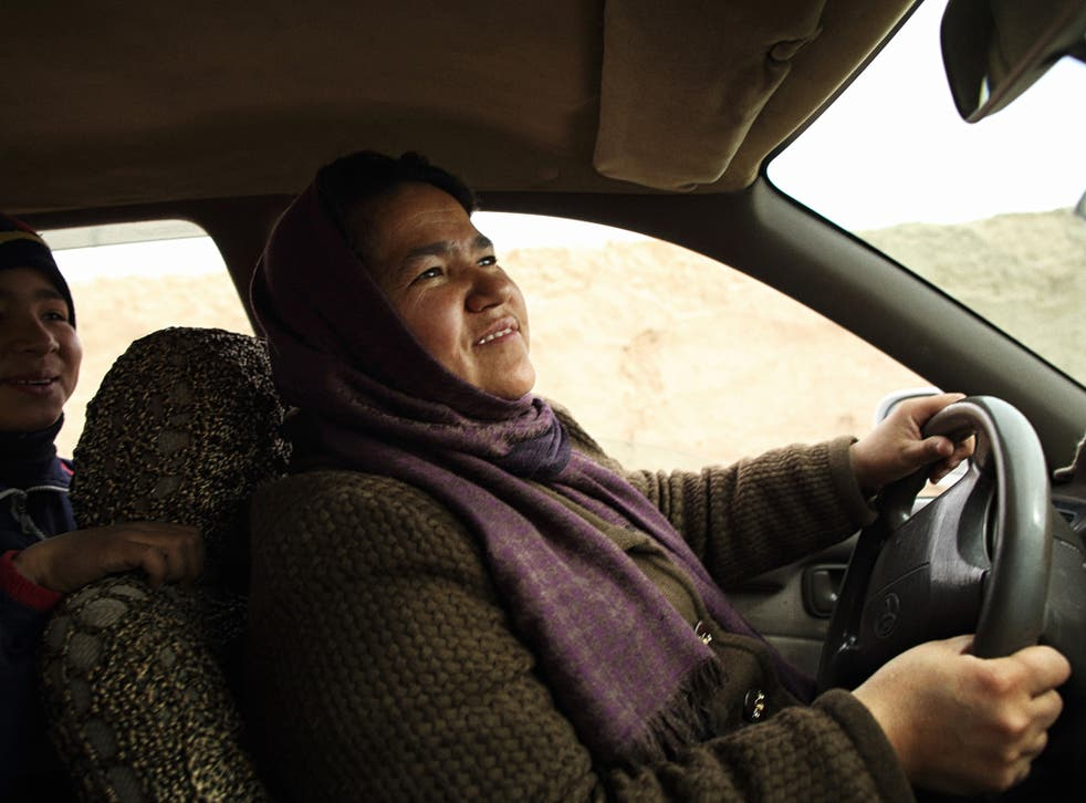 Sara Bahayi is Afghanistan's first female taxi driver in recent memory