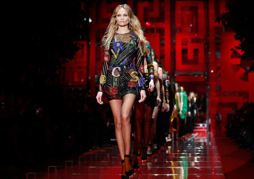 f1cffd0ec1 Milan Fashion Week  Versace review - Donatella s vision of what women wear  at the computer