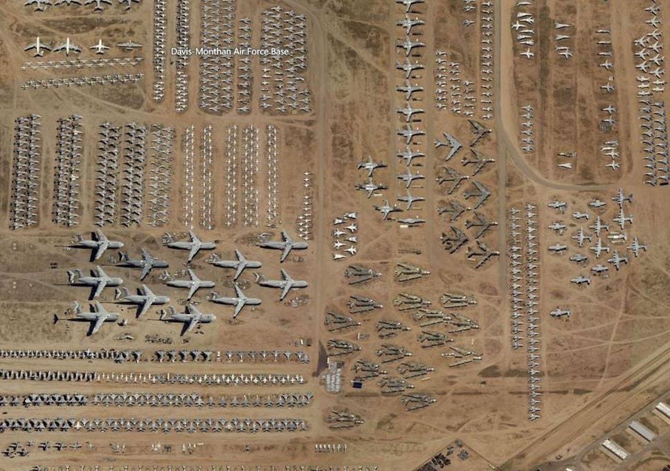 Air Force Bases In England Map.World S Largest Plane Graveyard Of Us Military Fighters In Desert