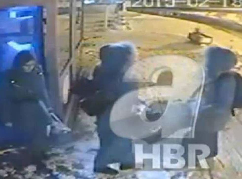 CCTV footage has emerged believed to show the three teenage girls - Shamima Begum, Kadiza Sultana, and Amira Abase - at a bus station in Istanbul in the footage